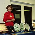 Mary Belle Cordell  presents her porcelain art work