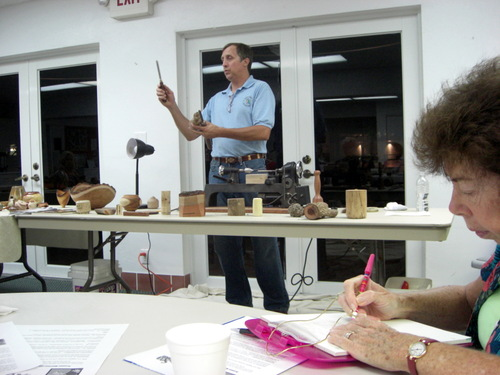 teaching about woodturning tools