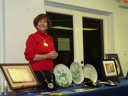 Mary Belle Cordell  presents her porcelain art work