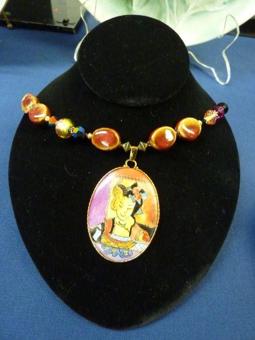 Porcelain Pendant and Necklace
