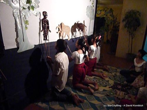 Cambodian War Orphan's Shadow Puppet Theatre