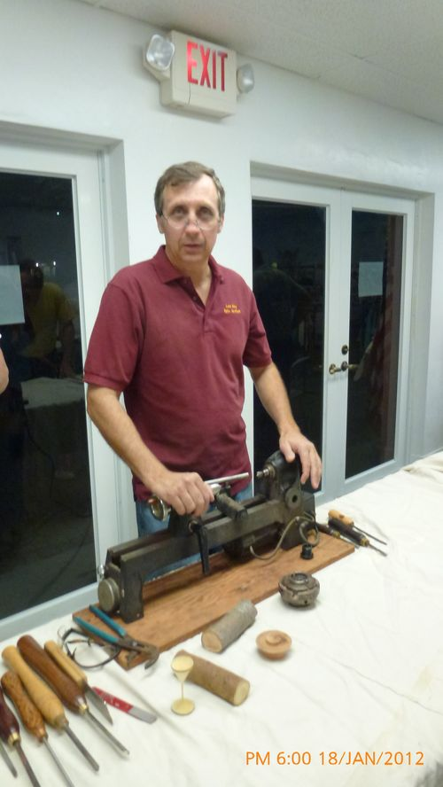 Lee Sky - My small, portable Lathe and handmade cutting tools.
