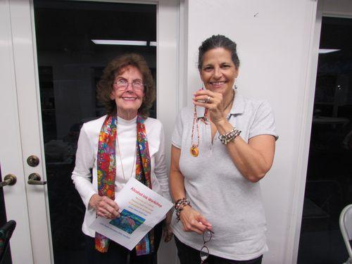 Lee Tatem with the artist, Lynn Greenberg