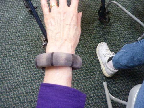 Wood segmented bracelet